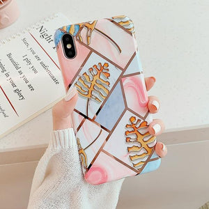 Geometric Marble Print iPhone Case Elite Fitness Essentials For iPhone XR p