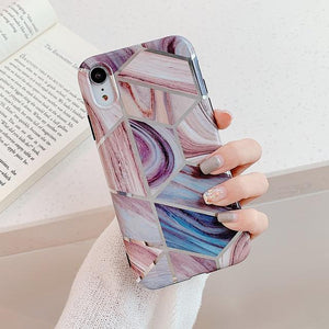 Geometric Marble Print iPhone Case Elite Fitness Essentials For iPhone XR y