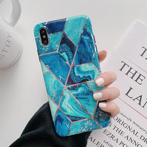 Geometric Marble Print iPhone Case Elite Fitness Essentials For iPhone XS Max l
