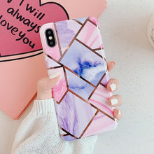 Load image into Gallery viewer, Geometric Marble Print iPhone Case Elite Fitness Essentials For iPhone XS Max m