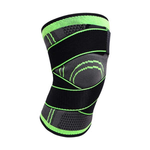 Knee Compression Sleeve Brace with Elastic Straps - CLOSE OUT - Elite Fitness Essentials