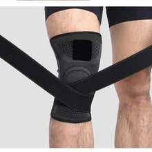 Load image into Gallery viewer, Knee Compression Sleeve Brace with Elastic Straps - CLOSE OUT Elite Fitness Essentials
