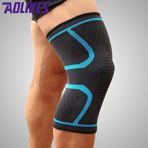 Knee Support Sleeve Elite Fitness Essentials Blue M