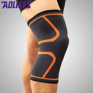 Knee Support Sleeve Elite Fitness Essentials Orange M