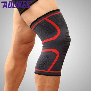Knee Support Sleeve Elite Fitness Essentials Red M