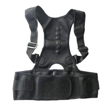 Load image into Gallery viewer, Magnetic Posture Corrector Elite Fitness Essentials BLACK Large