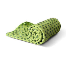 Load image into Gallery viewer, Non-Slip Yoga Mat Cover/Towel Elite Fitness Essentials Green