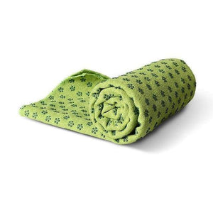 Non-Slip Yoga Mat Cover/Towel Elite Fitness Essentials Green