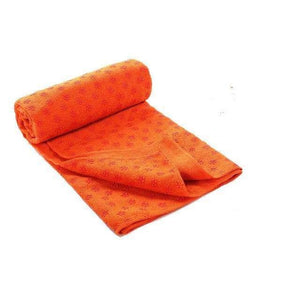 Non-Slip Yoga Mat Cover/Towel Elite Fitness Essentials Orange