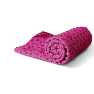 Non-Slip Yoga Mat Cover/Towel Elite Fitness Essentials Plum