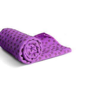 Non-Slip Yoga Mat Cover/Towel Elite Fitness Essentials Purple