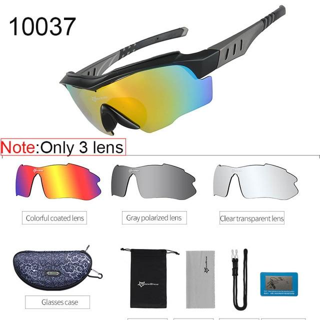 Polarized Cycling Sunglasses Elite Fitness Essentials Gray 2
