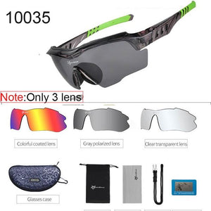 Polarized Cycling Sunglasses Elite Fitness Essentials Green 2