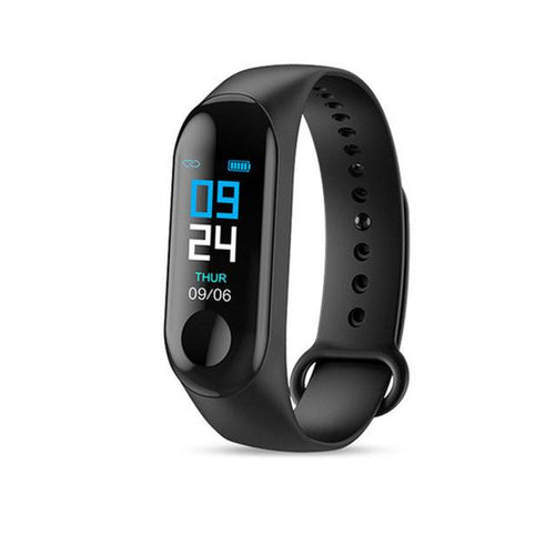Smart Fitness Tracker w/ HR & BP Monitor Elite Fitness Essentials Black