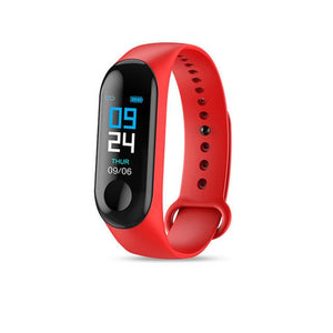 Smart Fitness Tracker w/ HR & BP Monitor Elite Fitness Essentials Red