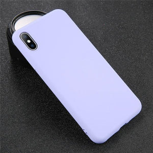 Solid Color iPhone Case Elite Fitness Essentials For iPhone 6 6s Purple