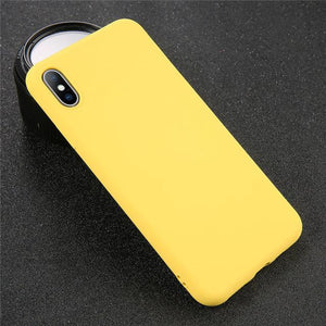 Solid Color iPhone Case Elite Fitness Essentials For iPhone 8 Yellow