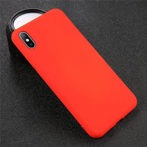 Solid Color iPhone Case Elite Fitness Essentials For iPhone XR Red
