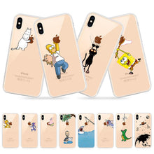 Load image into Gallery viewer, Transparent iPhone Case w/ Cartoon Character Elite Fitness Essentials