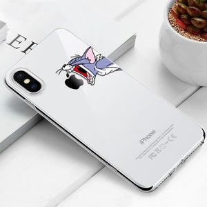 Transparent iPhone Case w/ Cartoon Character Elite Fitness Essentials For iPhone 6 Plus 03