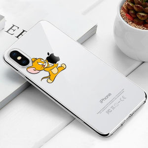 Transparent iPhone Case w/ Cartoon Character Elite Fitness Essentials For iPhone Xr Jerry (Tom & Jerry)
