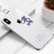Load image into Gallery viewer, Transparent iPhone Case w/ Cartoon Character Elite Fitness Essentials For iPhone Xr Tom (Tom & Jerry)