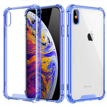 Load image into Gallery viewer, Transparent iPhone Case w/ Shockproof Bumper Elite Fitness Essentials For iphone 7 Plus Blue