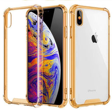 Load image into Gallery viewer, Transparent iPhone Case w/ Shockproof Bumper Elite Fitness Essentials For iphone 7 Plus Gold