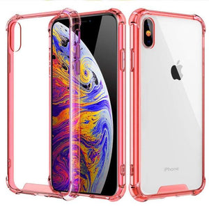 Transparent iPhone Case w/ Shockproof Bumper Elite Fitness Essentials For iphone XS Max Red