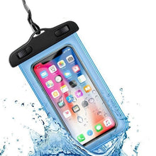 Load image into Gallery viewer, Universal Waterproof iPhone Case Elite Fitness Essentials Blue