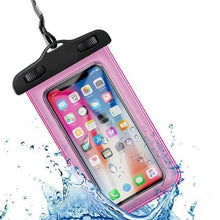 Load image into Gallery viewer, Universal Waterproof iPhone Case Elite Fitness Essentials Pink