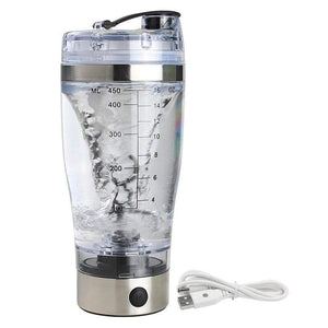 USB Rechargeable Electric Shaker Bottle Elite Fitness Essentials