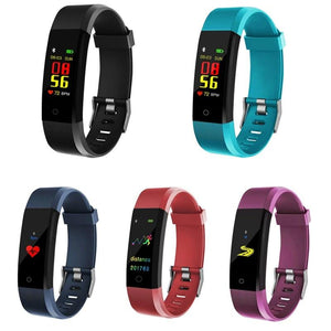 Waterproof Fitness Tracker w/ HR & BP Monitor - Elite Fitness Essentials