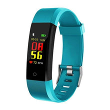 Load image into Gallery viewer, Waterproof Fitness Tracker w/ HR & BP Monitor Elite Fitness Essentials Green