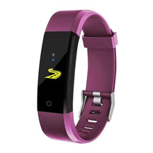 Load image into Gallery viewer, Waterproof Fitness Tracker w/ HR & BP Monitor Elite Fitness Essentials Purple