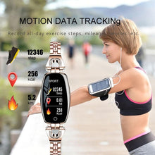 Load image into Gallery viewer, Waterproof Smart Fitness Bracelet w/ HR & BP Monitor For Women Elite Fitness Essentials