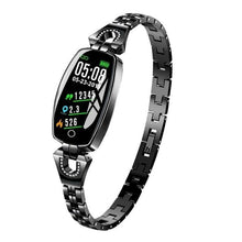 Load image into Gallery viewer, Waterproof Smart Fitness Bracelet w/ HR & BP Monitor For Women Elite Fitness Essentials Black
