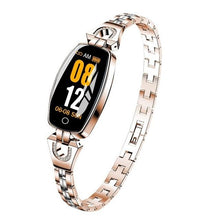 Load image into Gallery viewer, Waterproof Smart Fitness Bracelet w/ HR & BP Monitor For Women Elite Fitness Essentials Gold