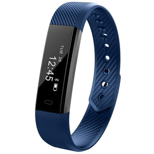 Waterproof Smart Fitness Tracker - CLOSE OUT Elite Fitness Essentials Blue