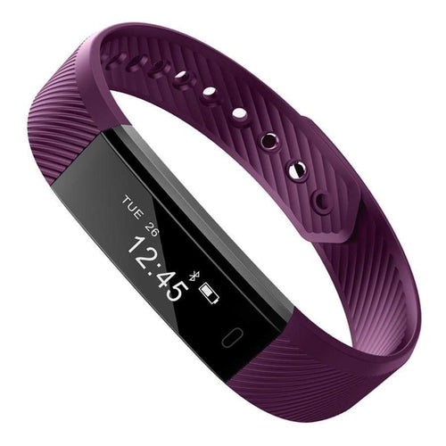 Waterproof Smart Fitness Tracker - CLOSE OUT Elite Fitness Essentials Purple