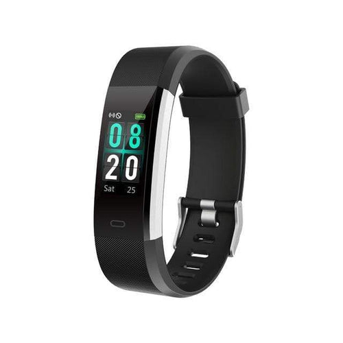 Waterproof Smart Fitness Tracker w/ HR Monitor Elite Fitness Essentials Black