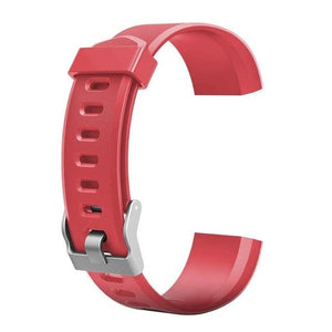 Waterproof Smart Fitness Tracker w/ HR Monitor Replacement Band Elite Fitness Essentials Red