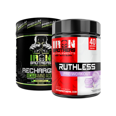 Ruthless Pre-Workout & Recharged BCAA - Iron Brothers Supplements