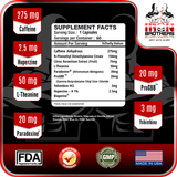 Iron Brothers Thermogenic Fat Burner Supplement Facts Panel Ingredients Sticker