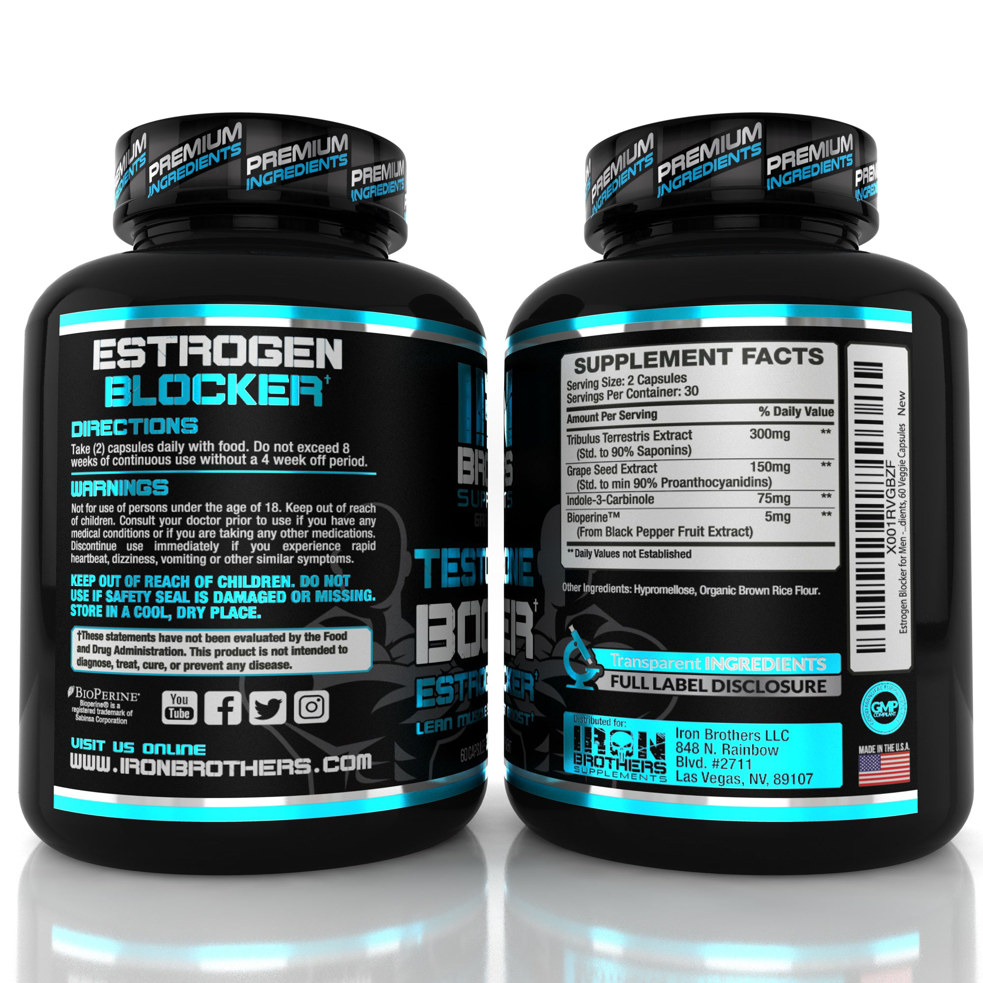 Test Booster & Estrogen Blocker - Iron Brothers Supplements