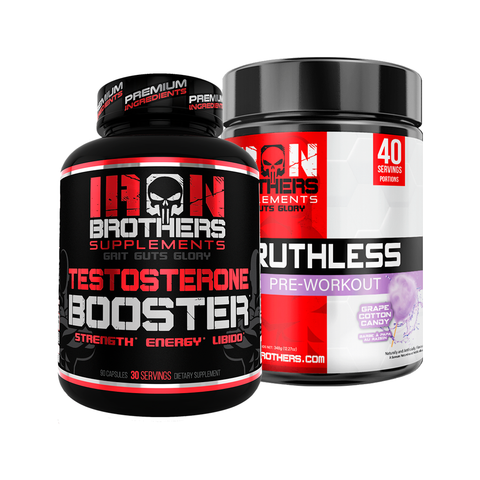 Ruthless Pre-Workout & Testosterone Booster - Iron Brothers Supplements