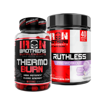 Ruthless Pre-Workout & Thermogenic Fat Burner - Iron Brothers Supplements