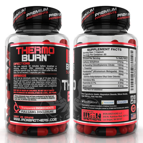 Front Main Image Iron Brothers Supplements Thermogenic Fat Burner With Nitric Oxide Booster