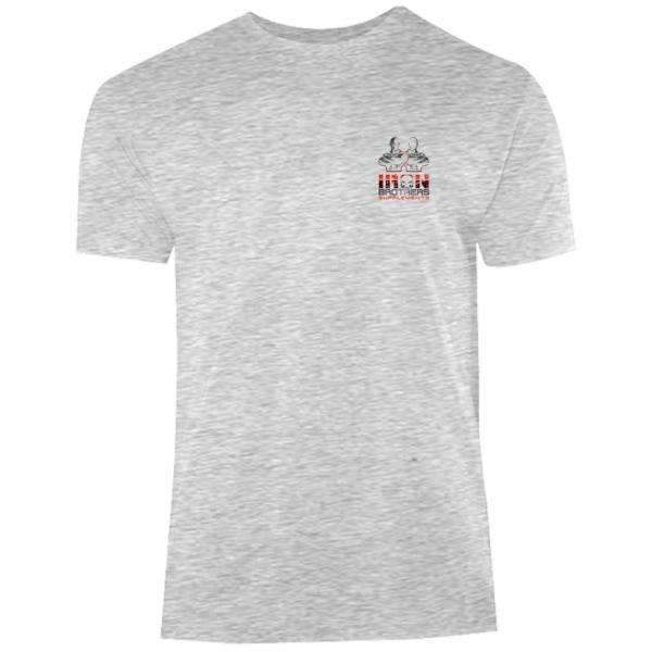 Iron Brothers Grey Gym Tee - Iron Brothers Supplements