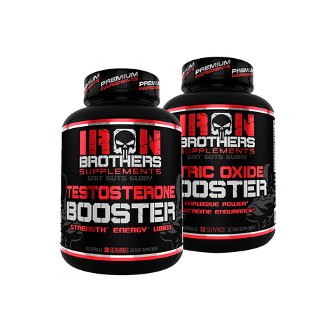 Testosterone Booster & Nitric Oxide Booster Stack - Iron Brothers Supplements